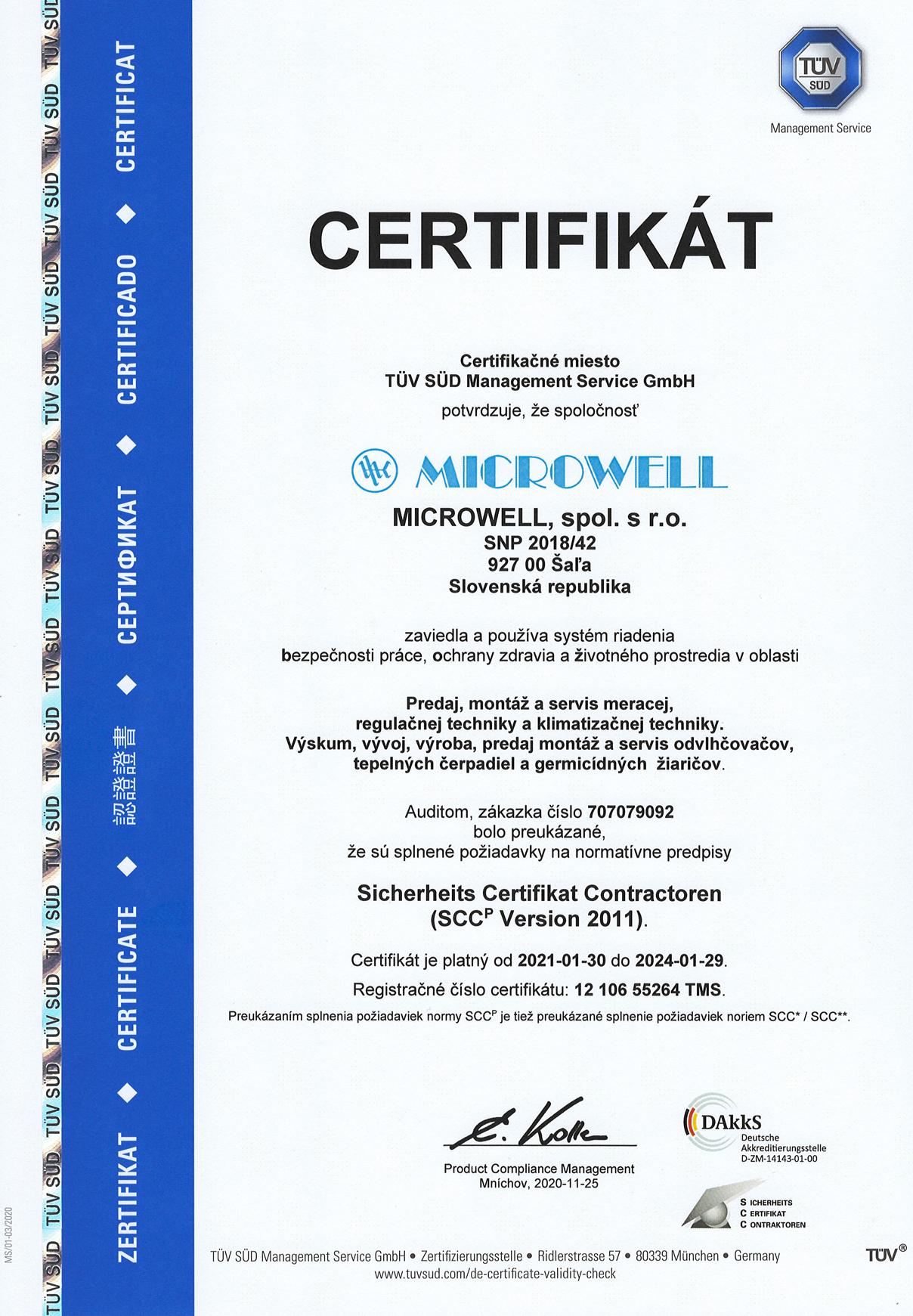 Sk certifikat SCC platne do 29 1 2024