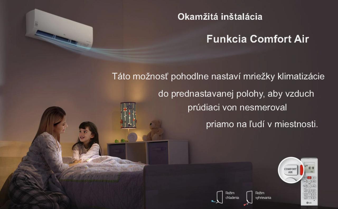 Funkcia Comfort Air